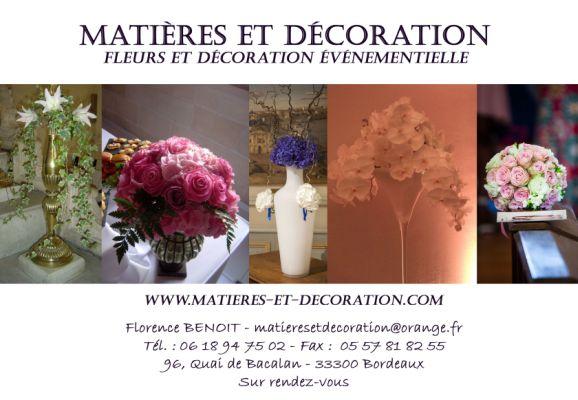 remerciements - fleurs,décoration,bordeaux,mariages,soirées d